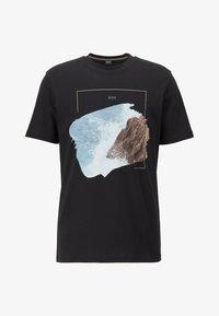 BOSS - NOAH - Print T-shirt - black - 3