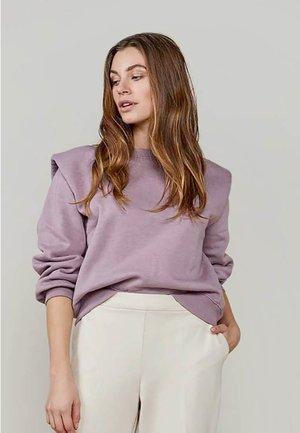 PADDED SHOULDER SOFT - Sweater - mauve