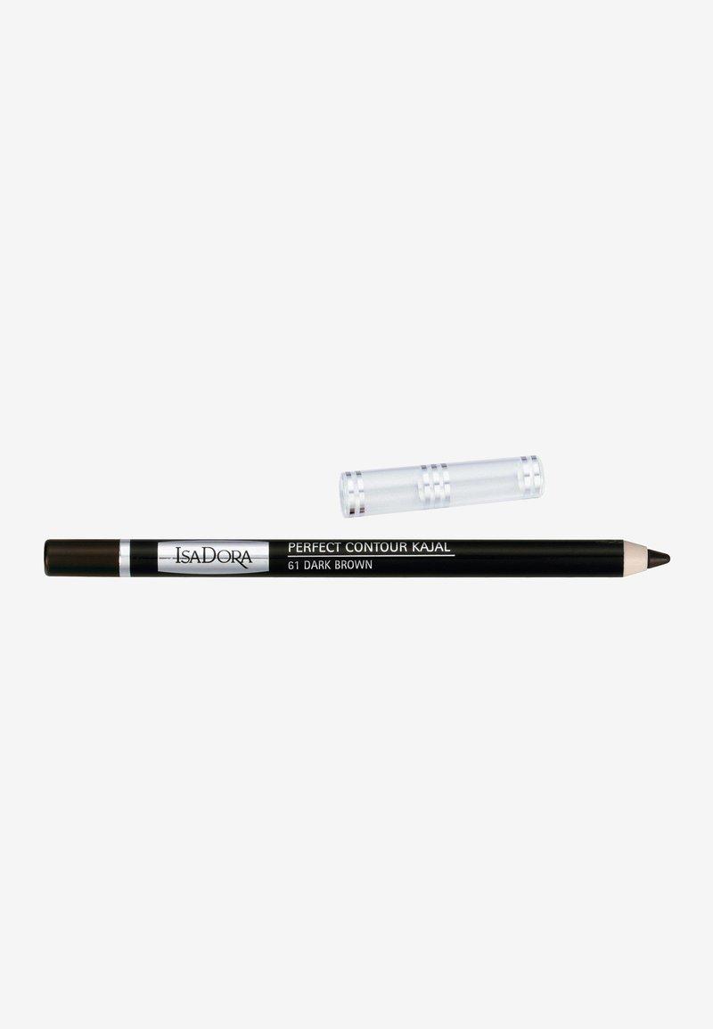 IsaDora - PERFECT CONTOUR KAJAL - Eyeliner - dark brown
