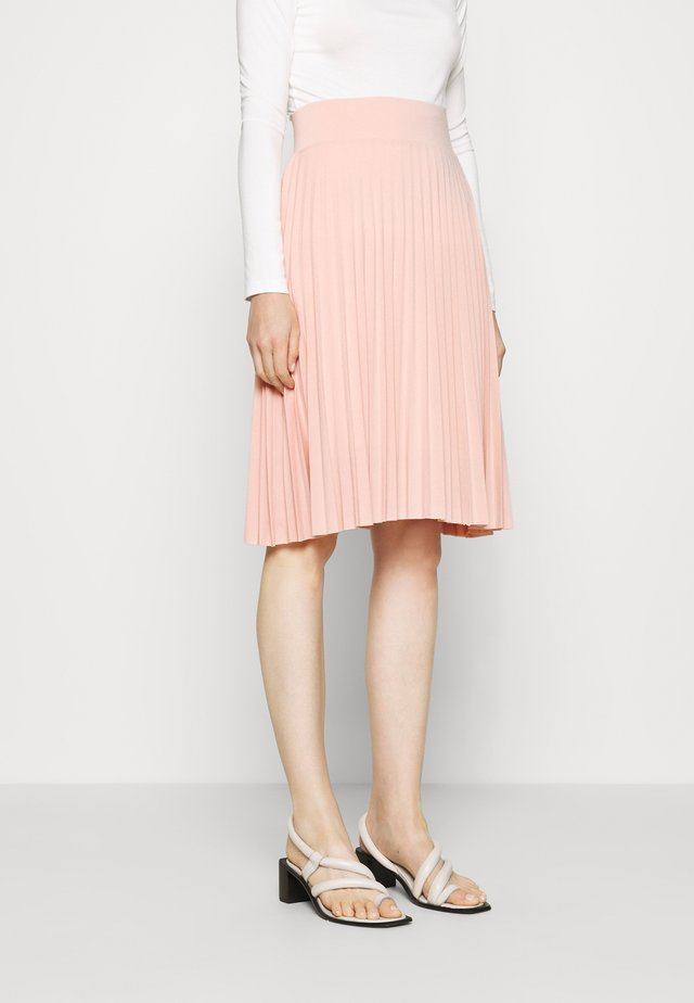 Plisse A-line mini skirt - Falda acampanada - dusty pink
