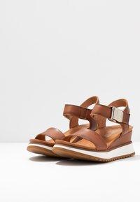 Felmini - KAREN - Platform sandals - cognac - 4