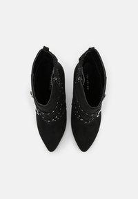 Even&Odd - Kotníková obuv na vysokém podpatku - black - 5