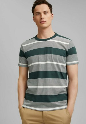 STRIPED  - Print T-shirt - turquoise
