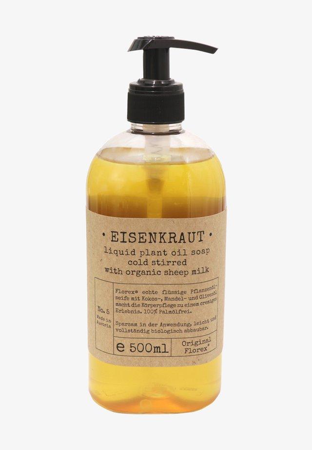 ECHTE PFLANZENÖLSEIFE EISENKRAUT MIT BIO SCHAFMILCH 500 ML - Liquid soap - -