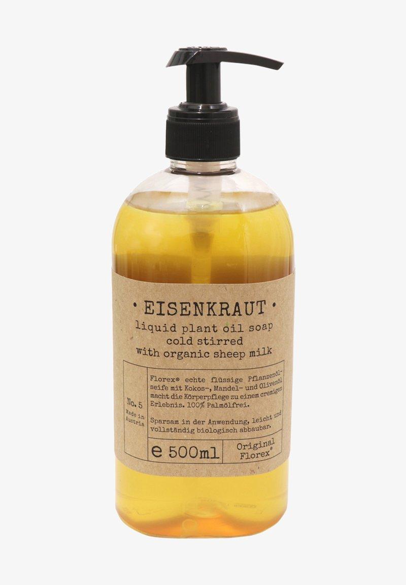 Florex - ECHTE PFLANZENÖLSEIFE EISENKRAUT MIT BIO SCHAFMILCH 500 ML - Liquid soap - -