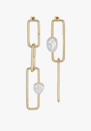 SQUARE LINK  - Korvakorut - gold-coloured