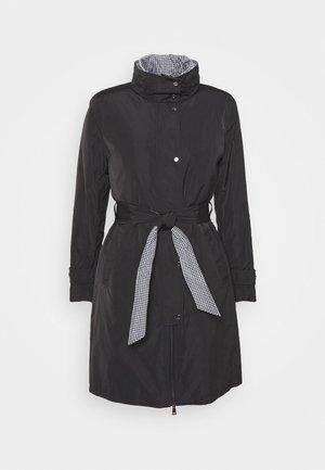 QUILTED VEST COAT 2-IN-1 - Trenchcoat - black