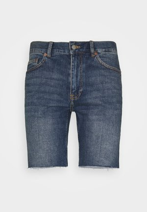 CLARK - Denim shorts - creek dark blue