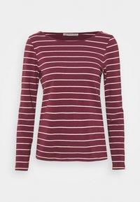 Anna Field - Langærmede T-shirts - dark red/camel - 4