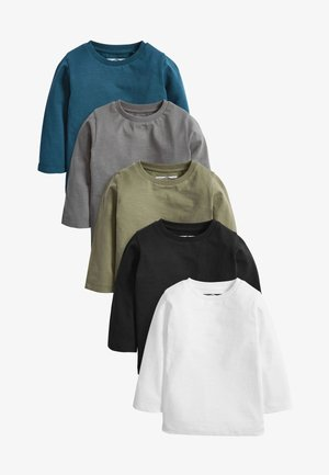 5 PACK PLAIN - Longsleeve - black