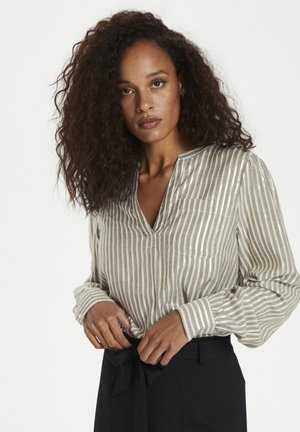 KAEBONY  - Blouse - drizzle/chalk/gold stripes