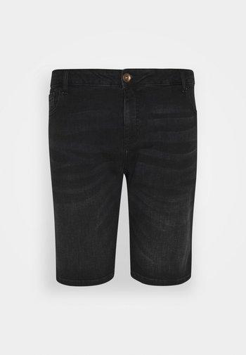 LODGER PLUS - Jeansshort - black