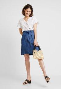 s.Oliver - A-line skirt - blue denim - 1