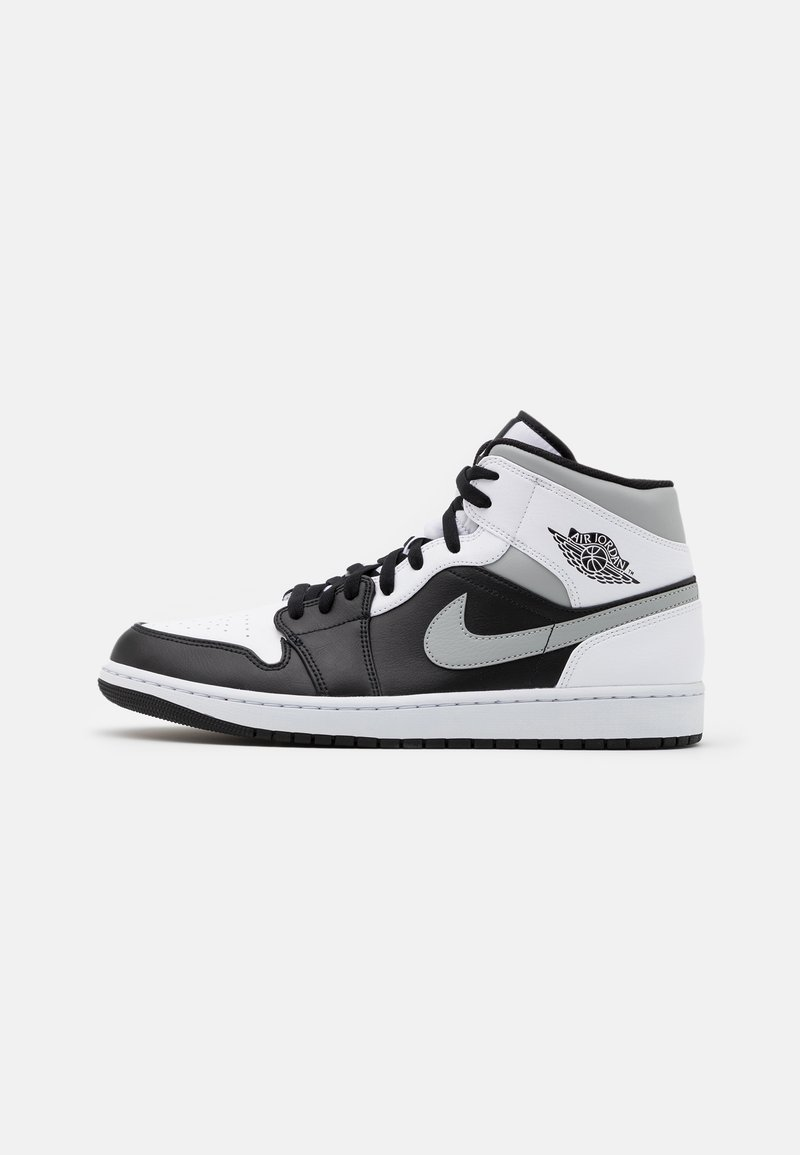 Jordan - AIR 1 MID - Korkeavartiset tennarit - black/light solar flare heather/white