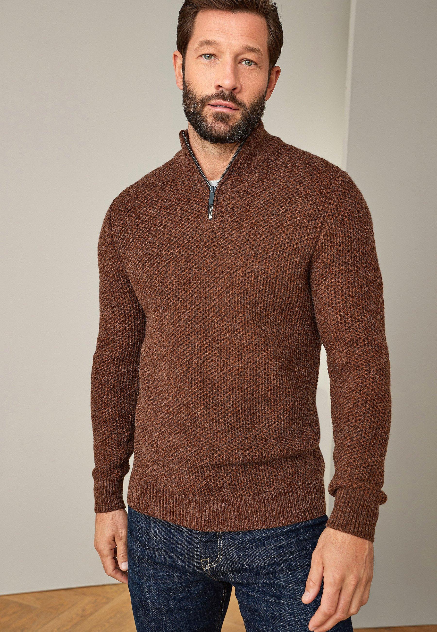 Homme TWIST ZIP NECK  - Pullover