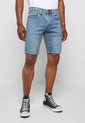 SLIM SHORT - Short en jean - blue denim
