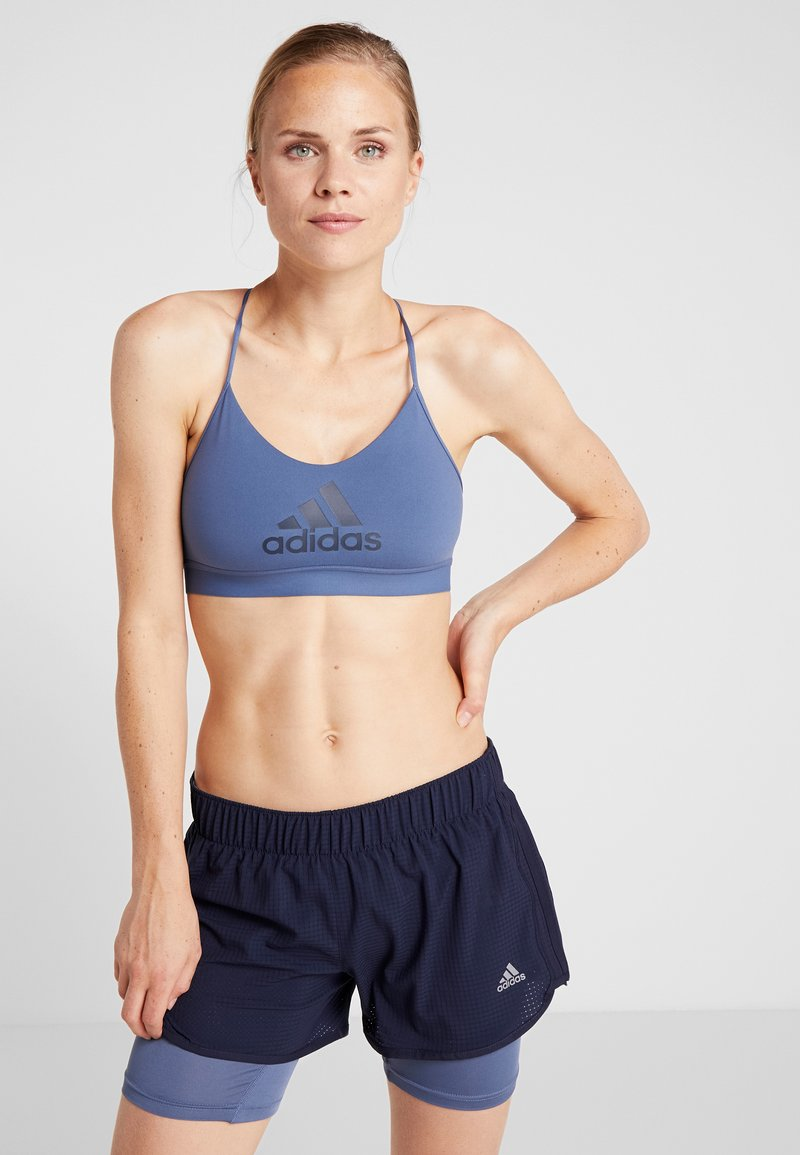 adidas Performance - CLIMACOOL WORKOUT BRA - Sport BH - dark blue