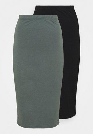2 PACK - Pouzdrová sukně - black/green