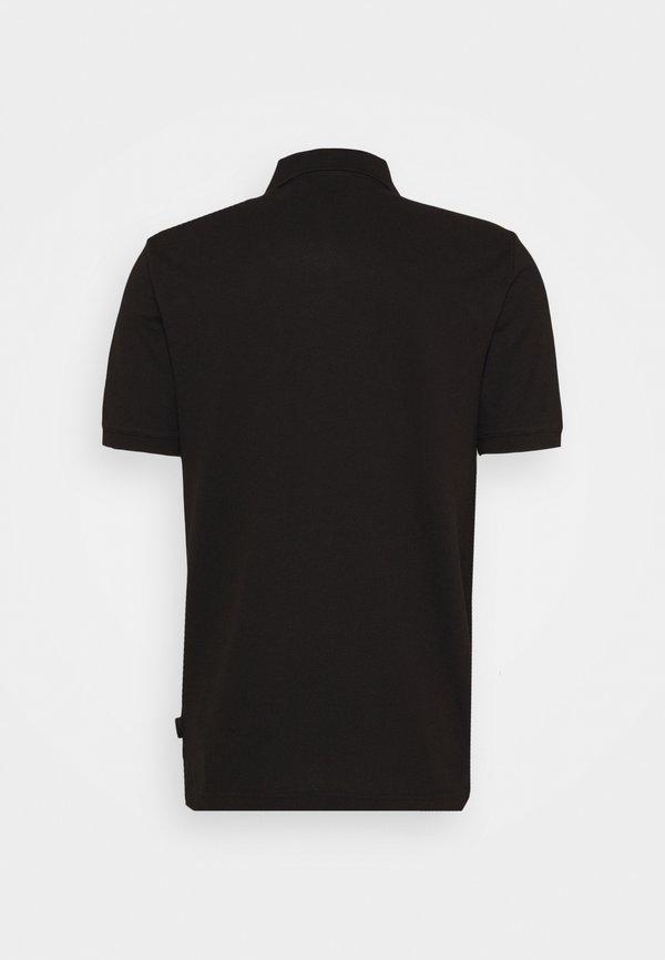 Calvin Klein BADGE SLIM - Koszulka polo - black/czarny Odzież Męska YIPW