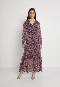 Vila - VIFALIA ANCLE DRESS - Maxi dress - winetasting blue - 0