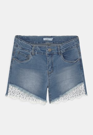 NKFSALLI - Denim shorts - light blue denim