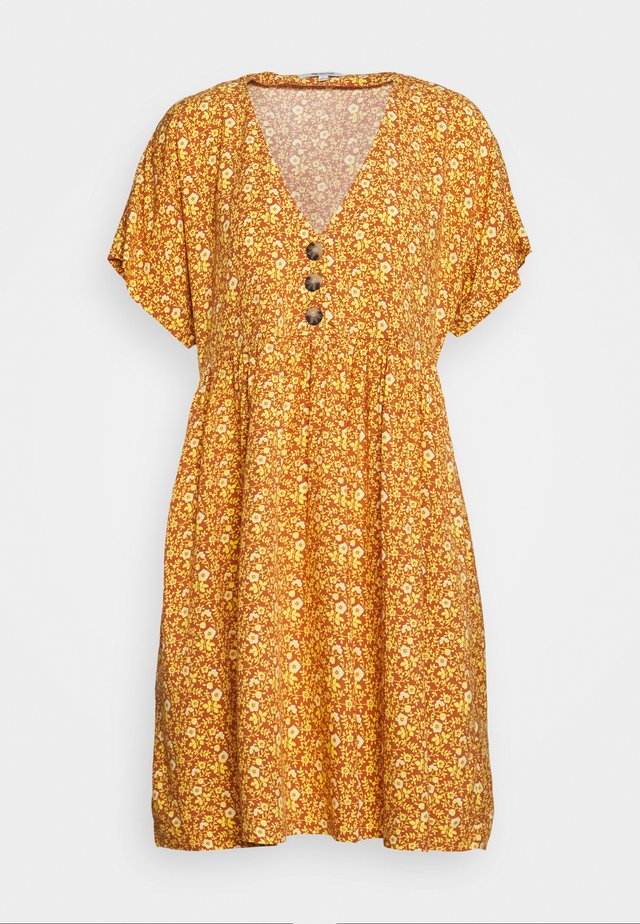 RETRO EASY DRESS - Shirt dress - vine/mulled cider