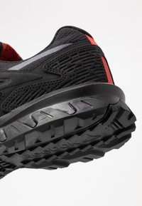 Reebok - RIDGERIDER 5.0 - Obuwie do biegania Szlak - black/radian red/pure grey