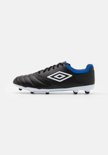 TOCCO CLUB FG - Moulded stud football boots - black/white/victoria blue