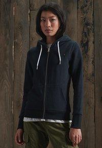 Superdry - ORANGE LABEL ZIP HOODIE - Zip-up hoodie - eclipse navy - 1