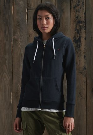 ORANGE LABEL ZIP HOODIE - Zip-up hoodie - eclipse navy