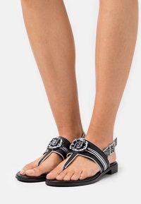 Liu Jo Jeans - ERIN  - T-bar sandals - black - 0