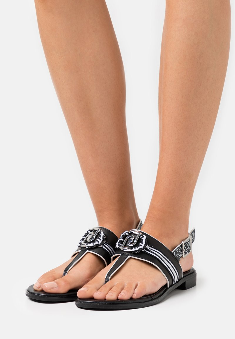 Liu Jo Jeans - ERIN  - T-bar sandals - black