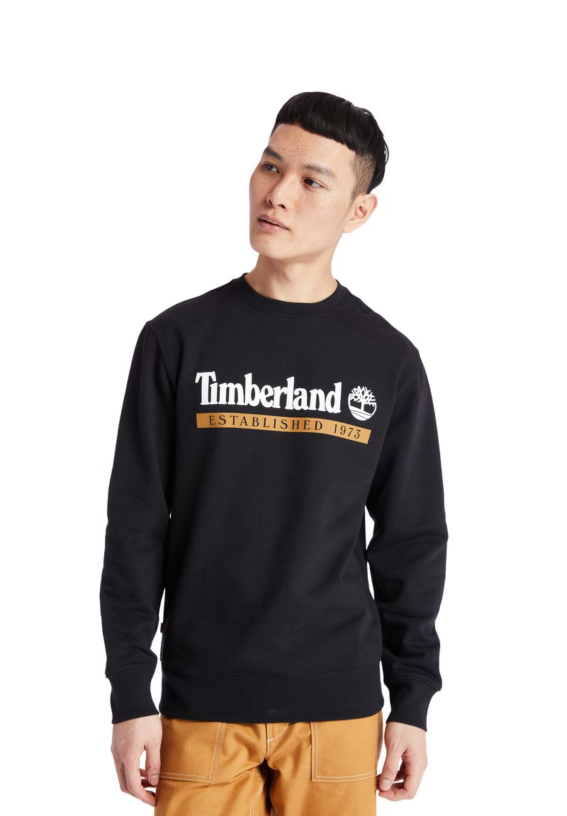 Timberland - ESTABLISHED 1973 CREW - Sweatshirt - black-wheat boot