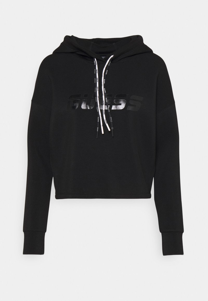 Guess - HOODED - Sweatshirt - jet black