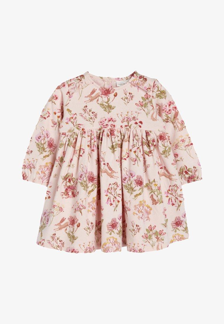 Next - PINK FLORAL JERSEY DRESS  - Denní šaty - pink