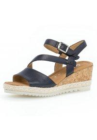 Gabor - Wedge sandals - blue - 1