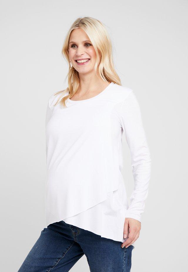 RAW EDGE NURSING - Pitkähihainen paita - white