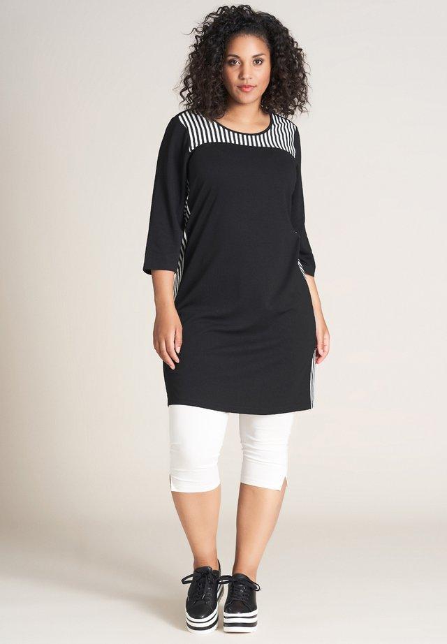 TINA - Jersey dress - schwarz weiss