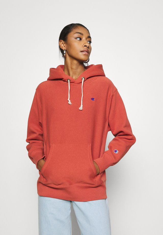 HOODED - Bluza z kapturem - orange