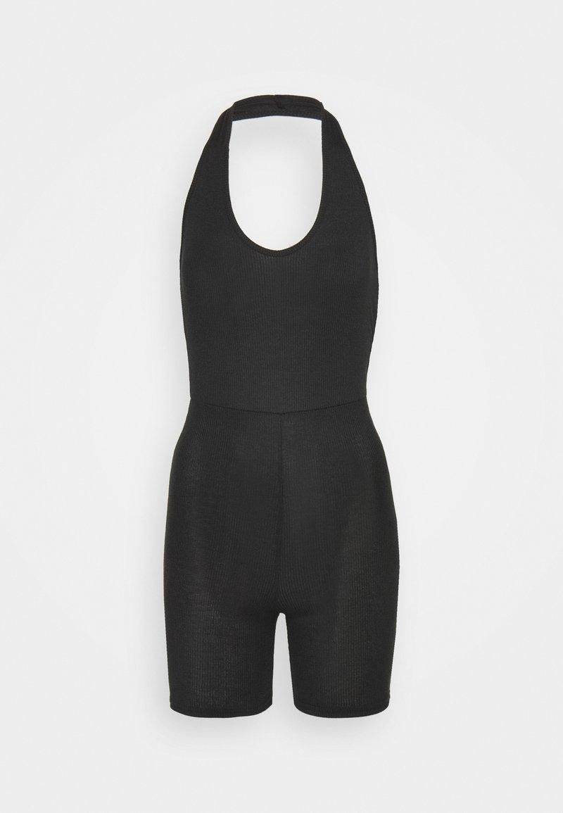 Missguided Petite - HALTER UNITARD - Jumpsuit - black