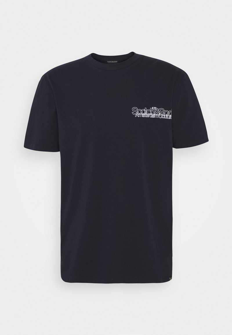 Scotch & Soda - LOGO ARTWORK CREWNECK TEE - Print T-shirt - navy