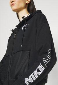 Nike Sportswear - Mikina na zip - black/white - 5