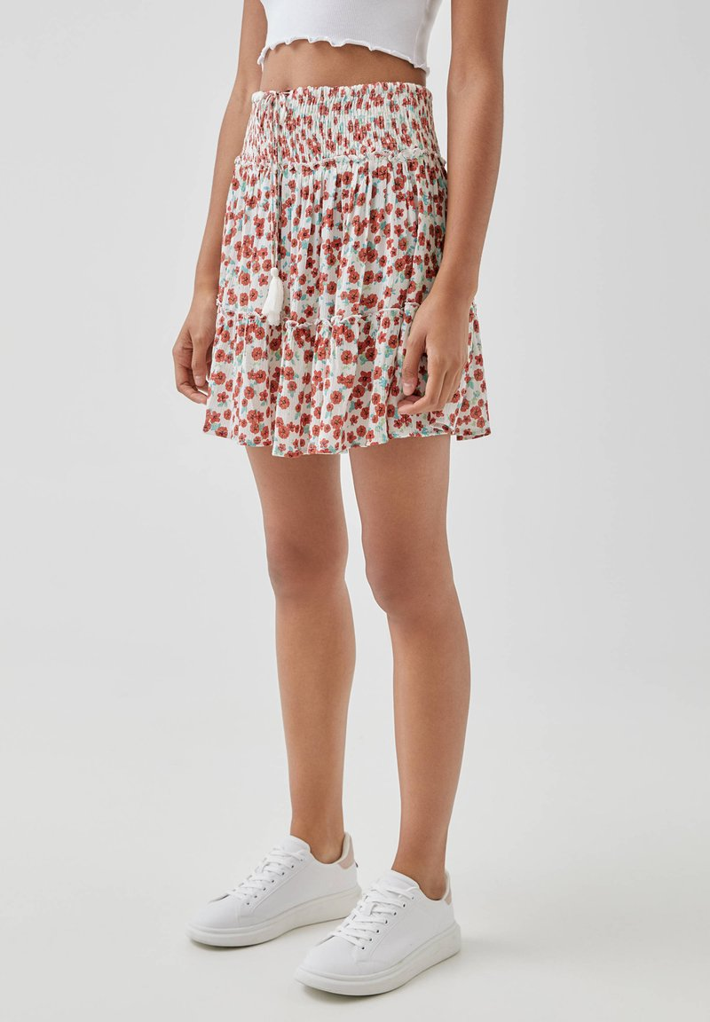 PULL&BEAR - A-line skirt - multi-coloured