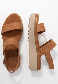 Timberland - SAFARI DAWN 2BAND - Platform sandals - rust - 3