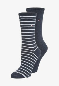 Tommy Hilfiger - WOMEN SMALL STRIPE 2 PACK - Socks - jeans - 0