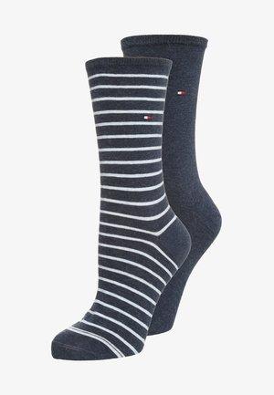 WOMEN SMALL STRIPE 2 PACK - Socks - jeans