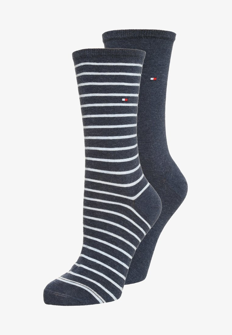 Tommy Hilfiger - WOMEN SMALL STRIPE 2 PACK - Socks - jeans
