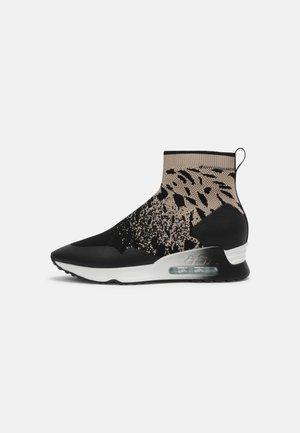 LADY - Sneakers high - black/eggnug