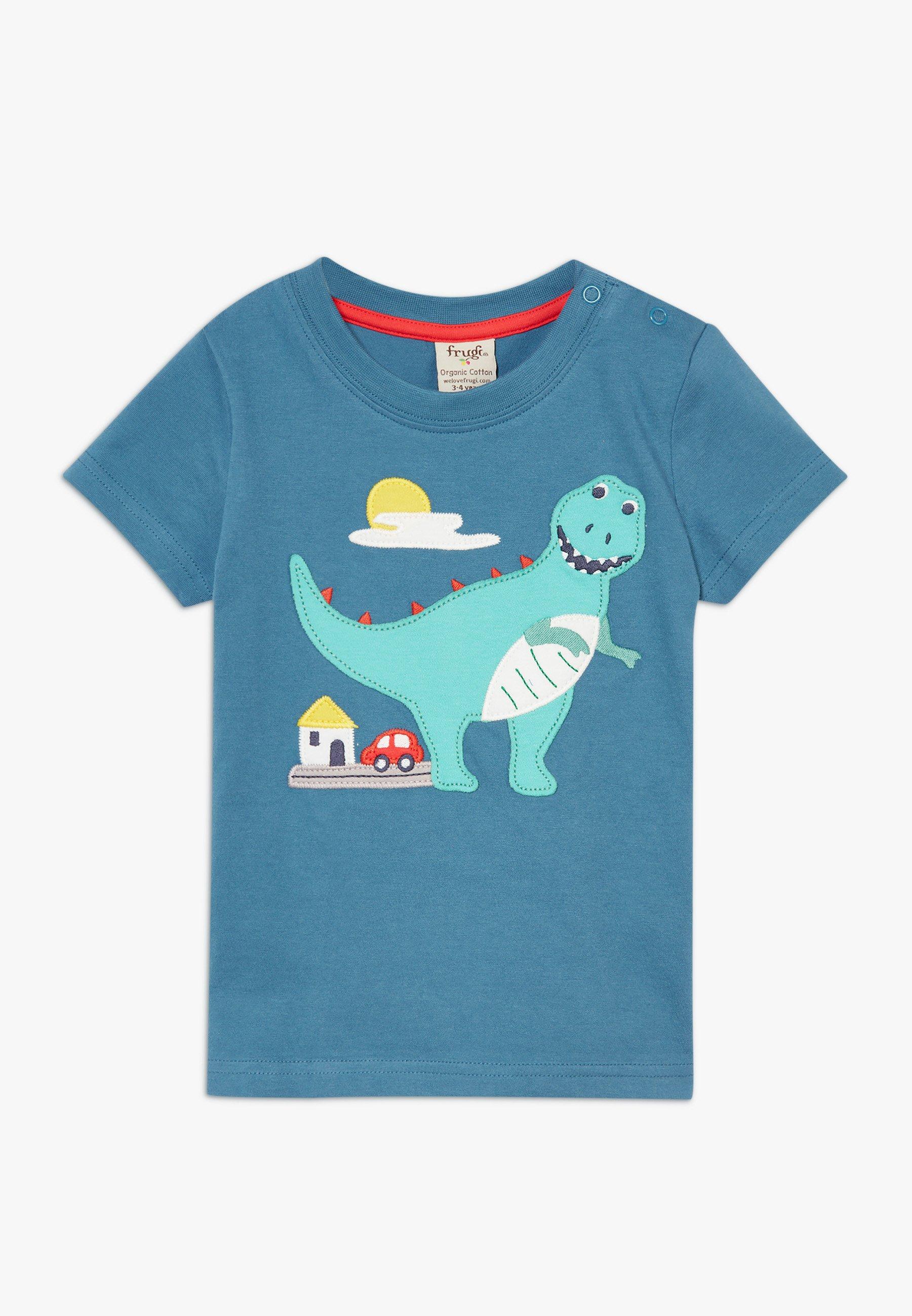 Große Förderung Frugi CARSEN DINOUSAUR - T-Shirt print - steely blue | Damenbekleidung 2020