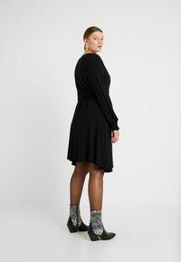 Kaffe Curve - PINA WRAP DRESS - Jersey dress - black deep - 3
